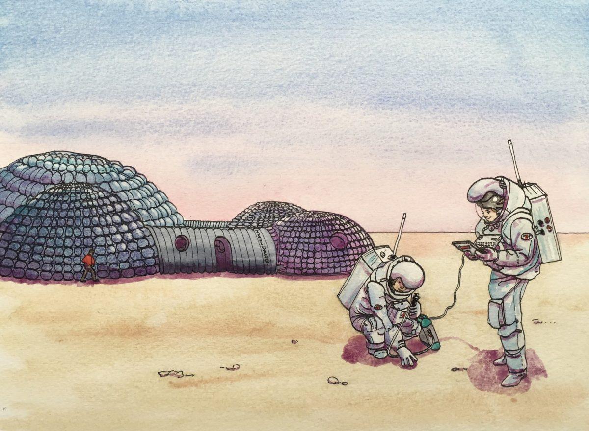 Martian deserts on Earth – I